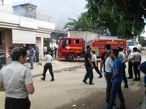 Corpo de Bombeiros foi chamado ao local. (Foto: Fabiana Conrado/G1)