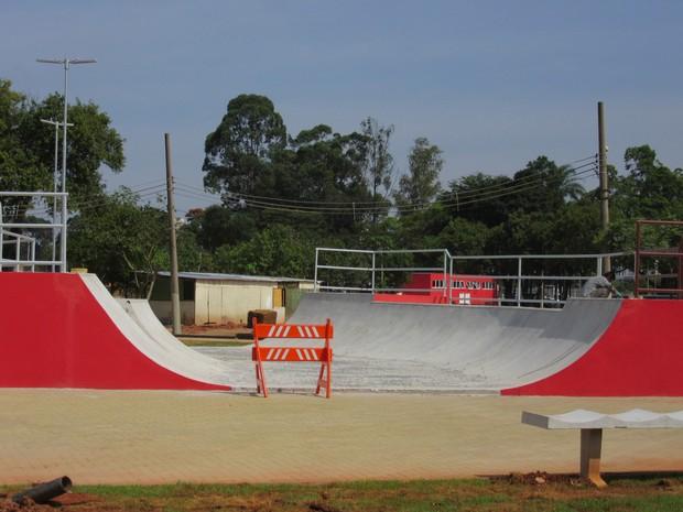 Mini Hemp para nível iniciante construída no Centro de Esportes Radicais (Foto: Vivian Reis/G1)