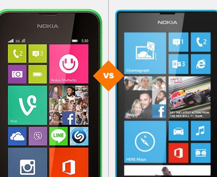 Comparativo Lumia 520 x 530 (Foto: Arte/TechTudo)