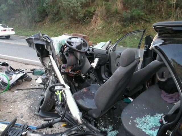 Acidente aconteceu na BR-470, próximo a cidade de Brunópolis (Foto: José Godoi/Divulgação)