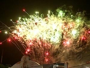 Queima de Fogos Círio de Nazaré Belém Show Pirotécnico Círio (Foto: Reprodução/TV Liberal)