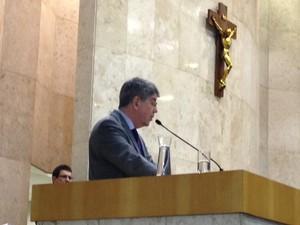 Antonio Donato na volta à Câmara de São Paulo (Foto: Roney Domingos/G1)