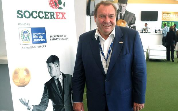 Duncan Revie na feira Soccerex (Foto: André Casado / Globoesporte.com)