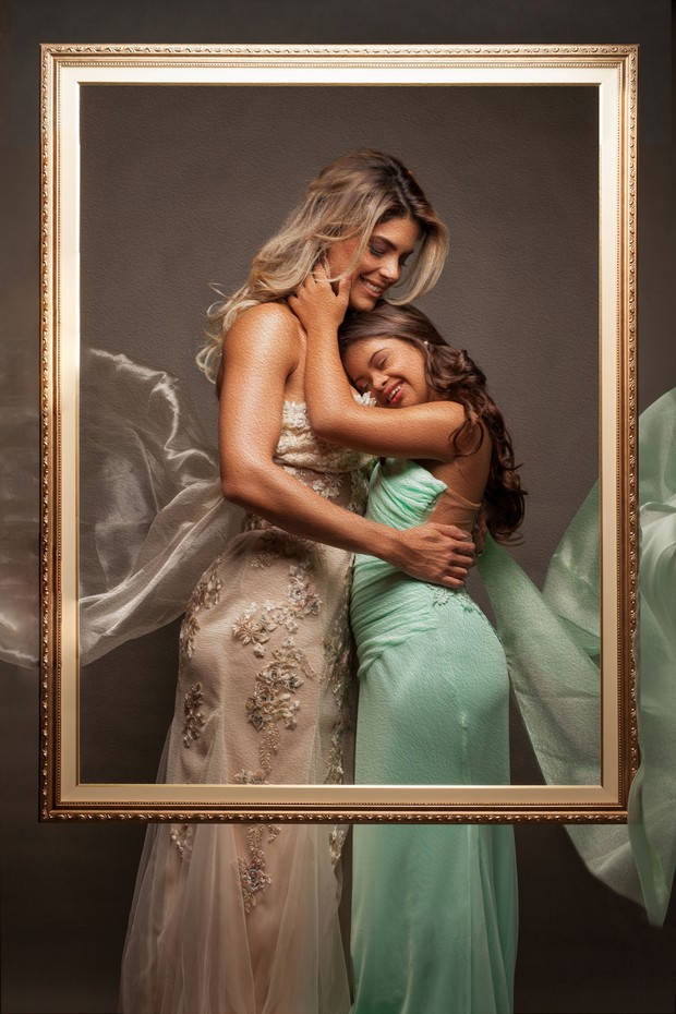 IvyFarias com a mãe Isabella Bittencourt (Foto: Divulgação/Nila Costa)