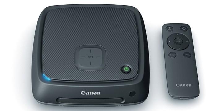 CS 100 da Canon vem com controle remoto, conexão wireless e NFC (Foto: Divulgação/Canon)