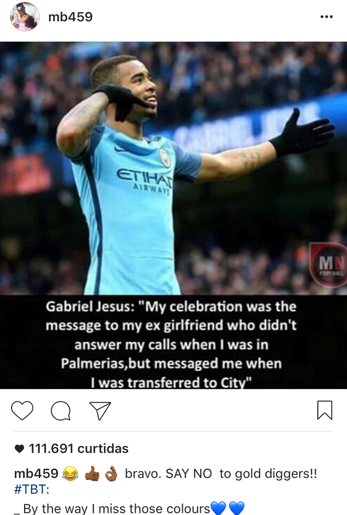 BLOG: Balotelli divulga meme com Jesus e diz estar com saudade do Manchester City