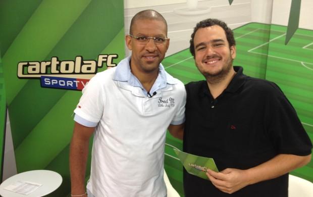 Djalminha e Rafael Cavalieri, Programa do Cartola (Foto: Divulgação / Sportv)