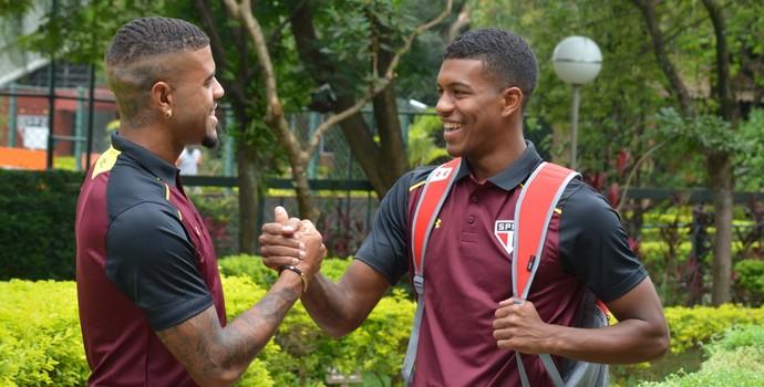 Léo Natel e Júnior Tavares (Foto: Érico Leonan / saopaulofc.net)