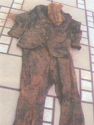 Pesquisadora obteve roupas e material genético. (Foto: Simoni Guerreiro Dias / Arquivo Pessoal)