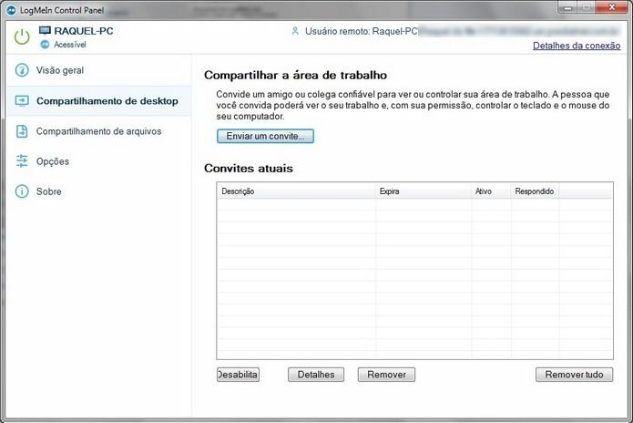 Janela de compartilhamento de desktop (Foto: Reprodução/ Raquel Freire)