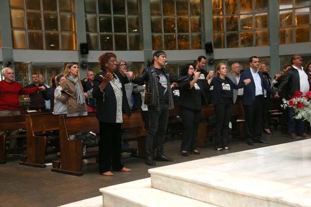 Missa de sétimo dia de Cauby Peixoto no Rio (Foto: André Freitas)