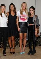 Fiorella Mattheis e Mariana Rios vão a evento de moda em São Paulo