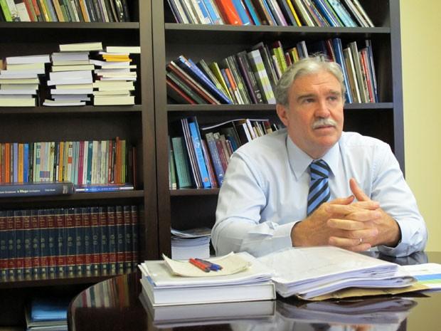 Julio Durigan, de 58 anos, é o reitor da Unesp (Foto: Vanessa Fajardo/ G1)