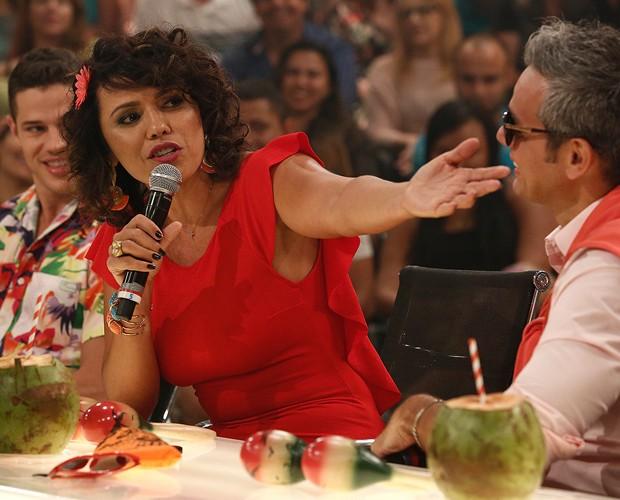 Dadá Coelho volta com tudo no programa sobre Humor (Foto: Fábio Rocha / Gshow)