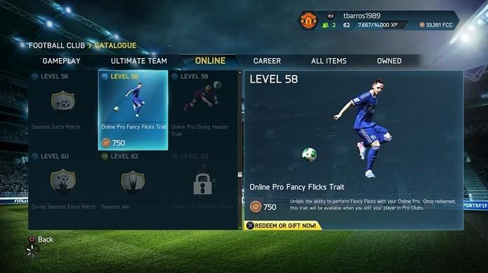 Compre boosts para o jogador (Foto: Thiago Barros/TechTudo)