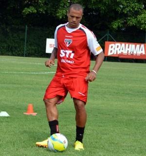 Luis Fabiano treino São Paulo (Foto: Site oficial do São Paulo)