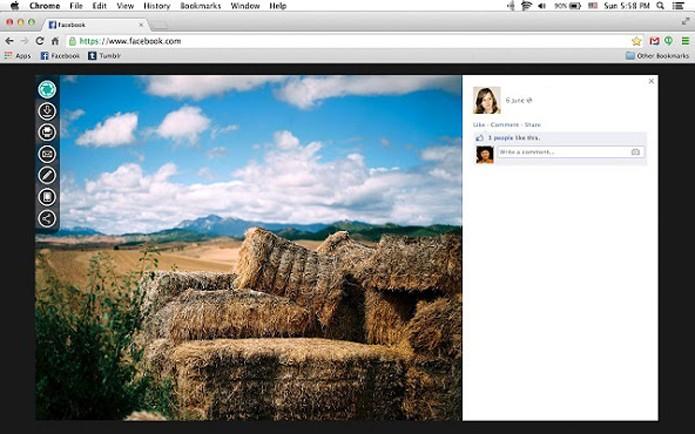 Edite e compartilhe fotos do Facebook com o Photon (Foto: Reprodução/ChromeWebStore)