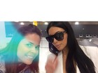Kim Kardashian desembarca no Brasil e fã registra