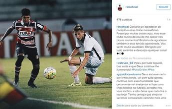De saída para o Cruzeiro, Raniel se despede do Santa Cruz em rede social