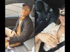Neymar canta e faz passinho durante passeio com Bruna Marquezine