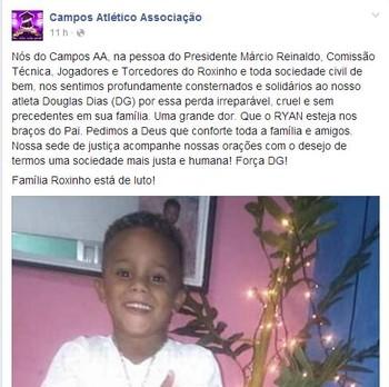 Campos, luto (Foto: Reproduçãol/ Facebook)