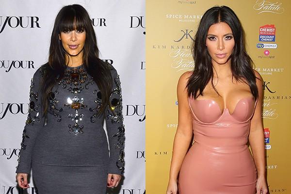 Kim Kardashian não demorou nadinha para recuperar a silhueta que possuia antes da gravidez.  (Foto: Getty Images)