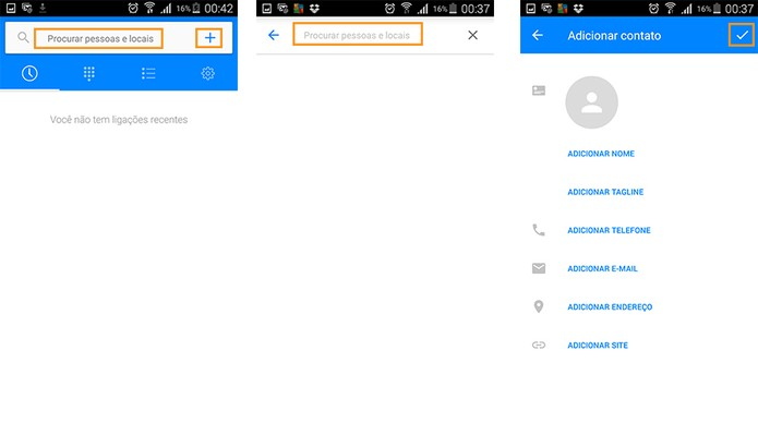 Fazer buscas e editar contatos no app (Foto: Reprodução/Barbara Mannara)