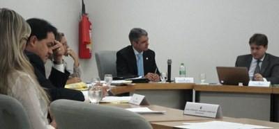 Conselheiros na primeira reunião do ano colegiado. (Foto: Divulgação/Ascom)