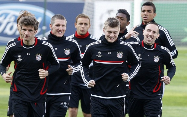 Treino do Bayern de Munique (Foto: Reuters)