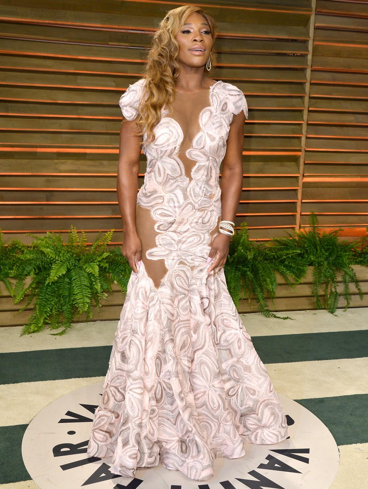 A melhor tenista do mundo, Serena Williams, na mesma festa. (Foto: Getty Images)