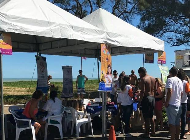 Stand de sustentabilidade realizado no segundo sábado de evento (Foto: Letícia Antunes/Inter TV)