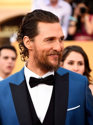 Matthew McConaughey no SAG Awards (Foto: AFP)