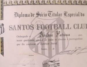 Diploma Araken patusca Santos (Foto: reprodução)