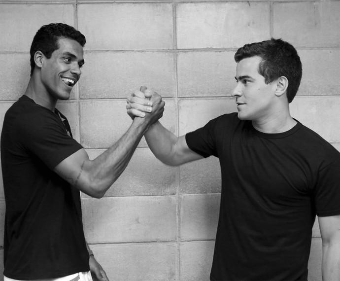 Marcello Melo Jr. e Thiago Martins se conheceram no Vidigal há 20 anos (Foto: Isabella Pinheiro/Gshow)