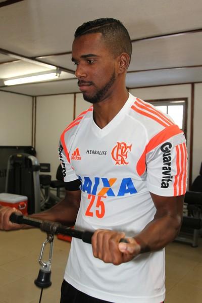Luiz Antonio, Ninho do Urubu, treino, Flamengo (Foto: Gilvan de Souza/ Fla Imagem)
