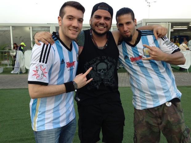 Argentinos estão no Rio para acompanhar show do Slipknot (Foto: Káthia Mello/G1)