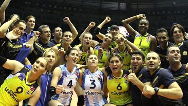 vôlei campeão fenerbahçe (Foto: Divulgação / Site oficial do Fenerbahçe)