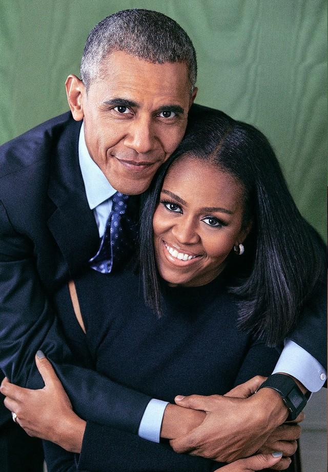 Barack e Michelle Obama posam para a nova edição da revista People (Foto: Reprodução)