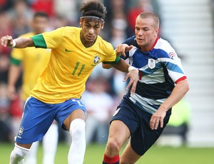 Neymar, Grã-Betanha x Brasil (Foto: Mowa Press)