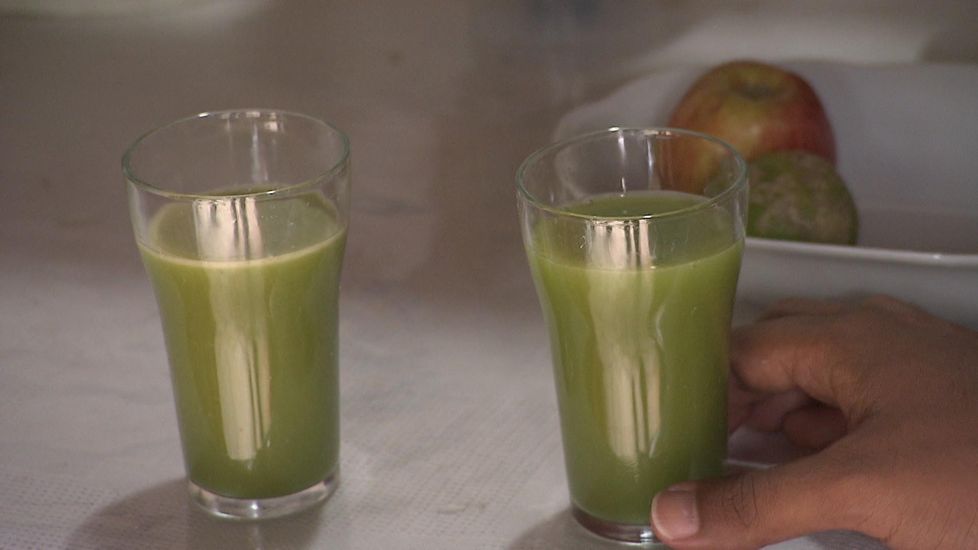 O suco serve para desintoxicar o organismo, segundo Rebeca (Foto: Divulgação)