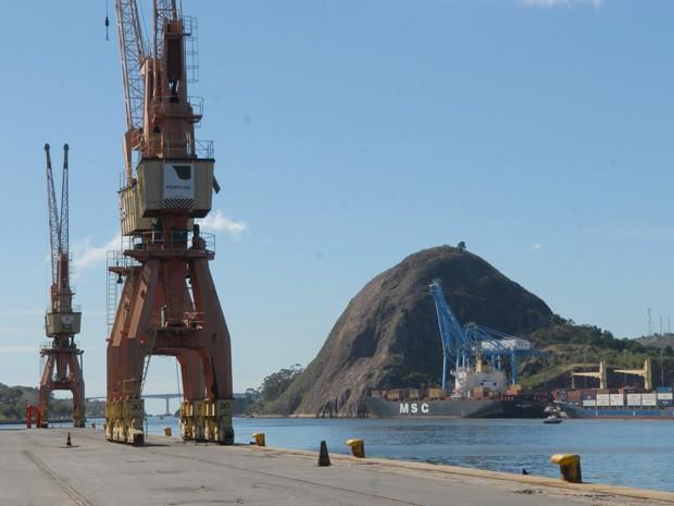 Porto de Vitória, na baía de Vitória, Espírito Santo (Foto: Gildo Loyola/ A Gazeta)