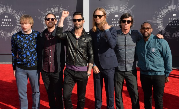 Maroon 5 no VMA, em Los Angeles, nos Estados Unidos (Foto: Mark Ralston/ AFP)