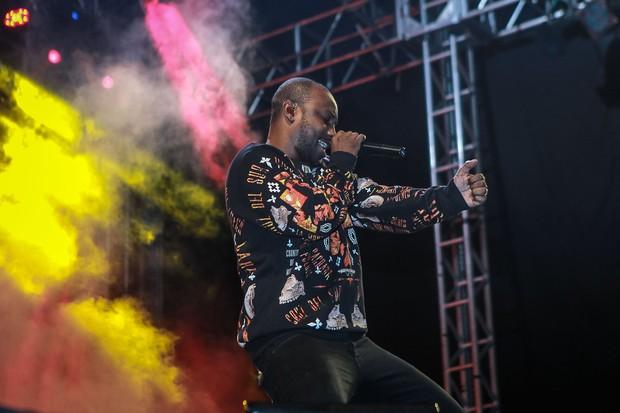 Thiaguinho em show em São Paulo (Foto: Raphael Castello/AgNews)
