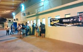 Torcida Vasco Arena Pantanal (Foto: Robson Boamorte)