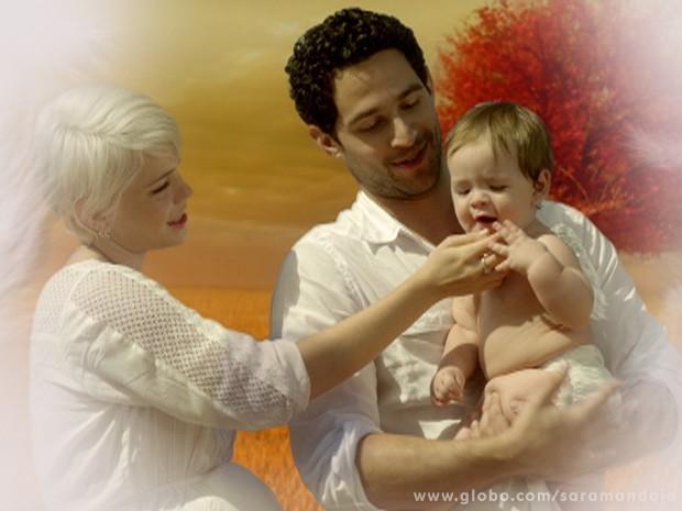 Zélia e Lua: grávidos novamente! (Foto: TV Globo/ Saramandaia)