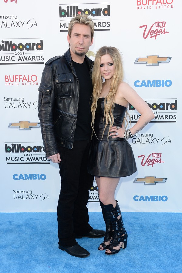 A cantora Avril Lavigne e seu ex, Chad Kroeger (Foto: Getty Images)