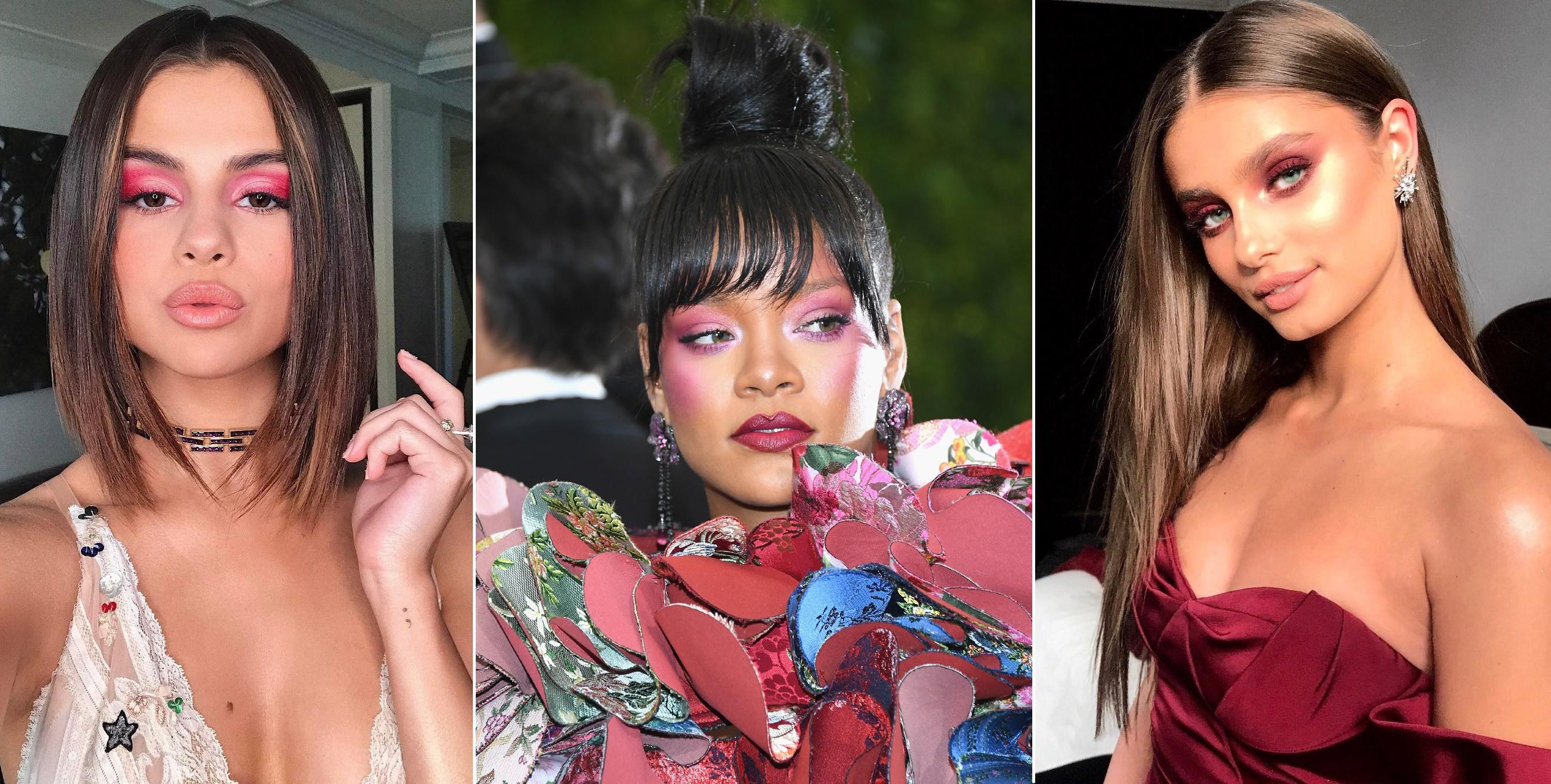 Selena Gomez, Rihanna e Taylor Hill (Foto: Reprodução/Instagram e Getty Images)