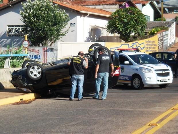 Perícia Técnica esteve no local do acidente nesta quarta-feira (Foto: Guarda Civil Municipal de Botucatu)