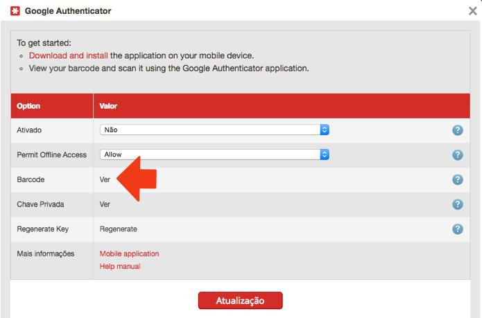Clique para ver o seu código QR pessoal e sincronizar com o celular (Foto: Reprodução/Paulo Alves)