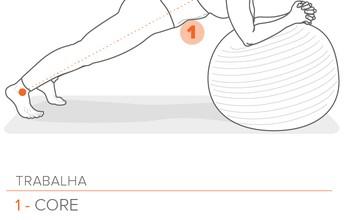 Prancha na bola: aprenda o principal exercício para fortalecer o core
